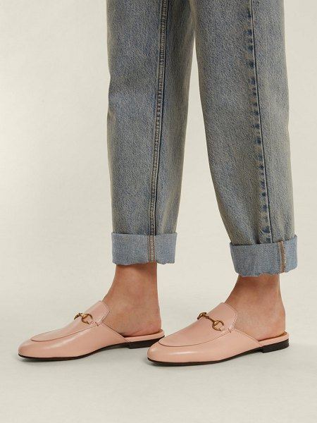 0a5eda4810f Gucci princetown leather backless loafers in light pink - Gucci - Gucci s  coveted Princetown backless loafers