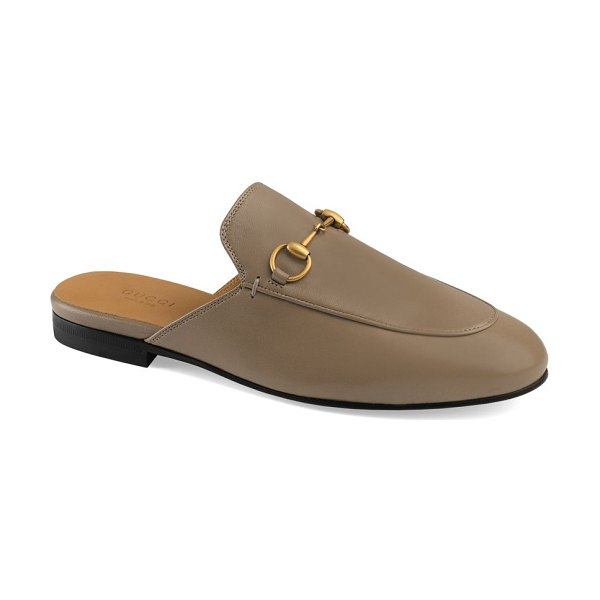Gucci princetown leather slipper in brown