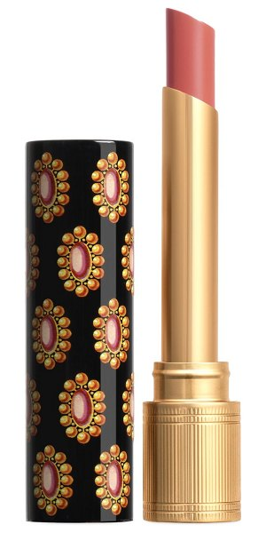 Gucci rouge de beauté brilliant shine glow and care lipstick in ,pink,red
