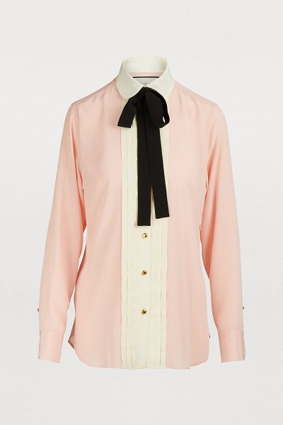 Gucci Silk shirt in pink/ivory