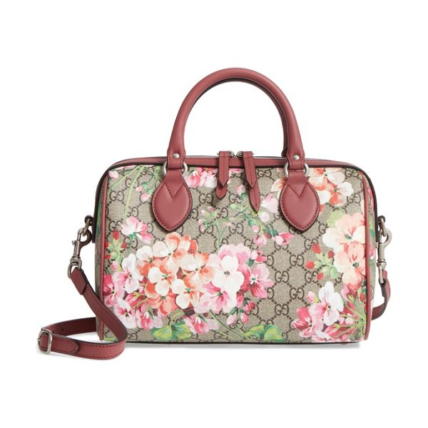 3fcff5c3b651 Gucci small blooms top handle gg supreme canvas bag in multi dry rose -  Gucci s