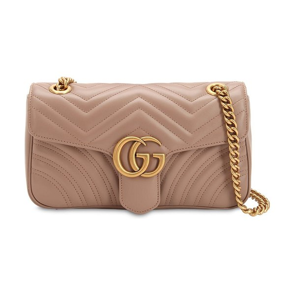 Gucci Small gg marmont 2.0 leather bag in nude