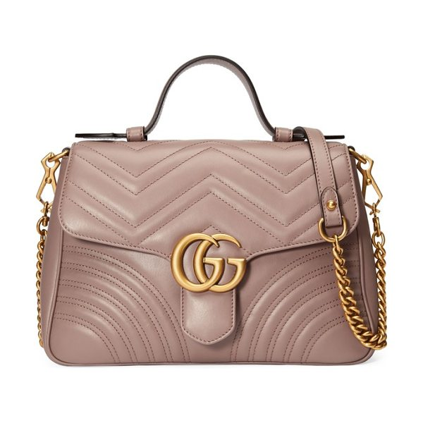 Gucci small gg marmont 2.0 matelasse leather top handle bag in porcelain rose - Double-G logos-inspired by a '70s-era design found in...