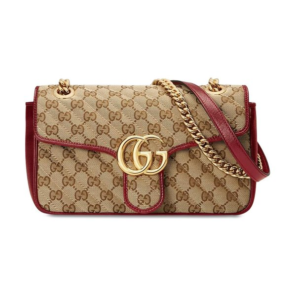 Gucci Small gg marmont 2.0 original gg bag in brown,cherry