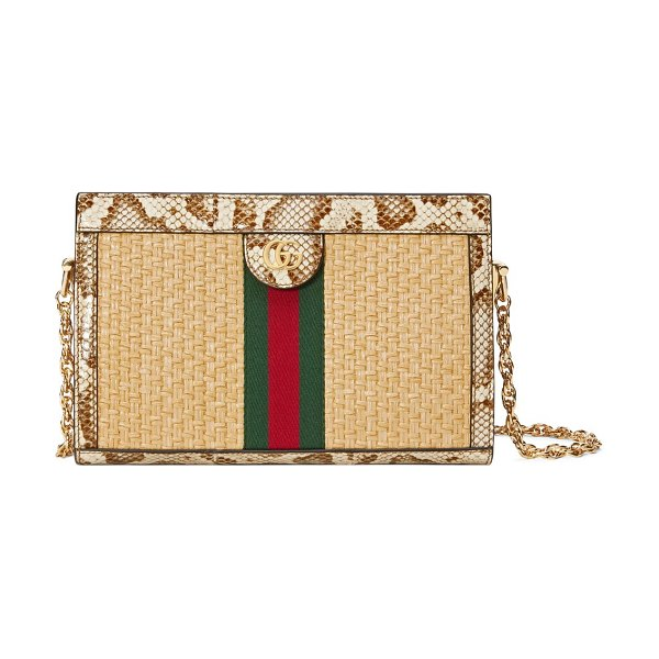 Gucci small ophidia shoulder bag in cream