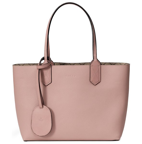 """GUCCI Small Reverse Double GG Tote Bag - Gucci reversible tote bag in grain leather. Approx. 8""""H..."""