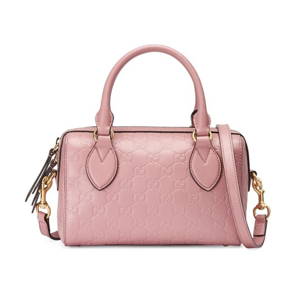 Gucci small top handle signature leather satchel in rose baby candy - A smooth leather satchel will look as chic years from...
