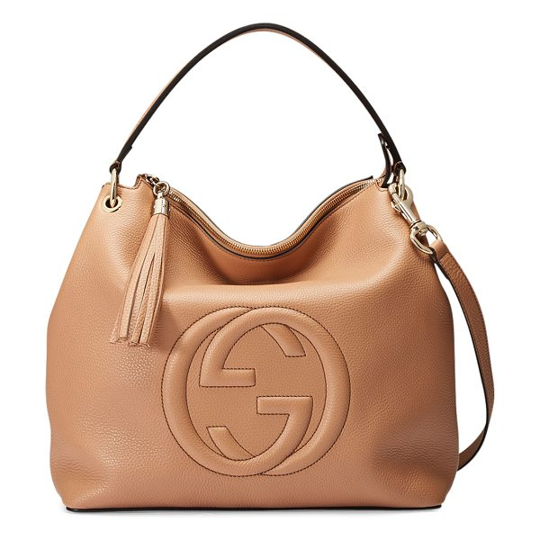GUCCI Soho Large Leather Hobo Bag - Gucci large hobo bag in leather. Adjustable shoulder...