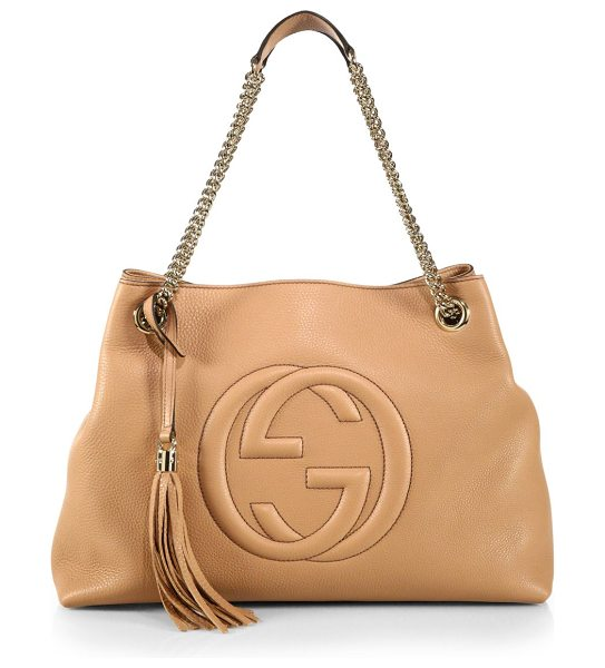 Gucci Soho leather shoulder bag in camelia