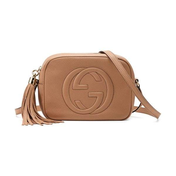 Gucci Soho Small Shoulder Bag in beige - Gucci small leather shoulder bag. Light golden hardware....