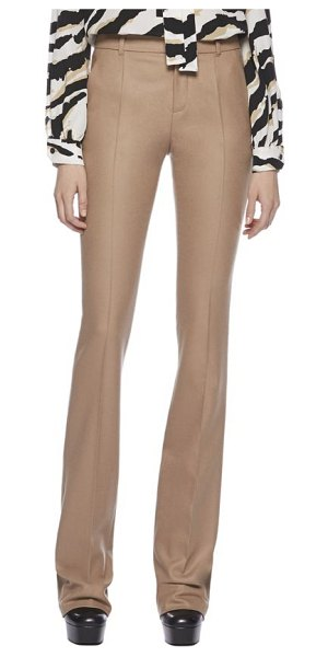 GUCCI Stretch flannel high-waist 70s pants - Beige stretch flannelHorn buttonsFlared cutVirgin...