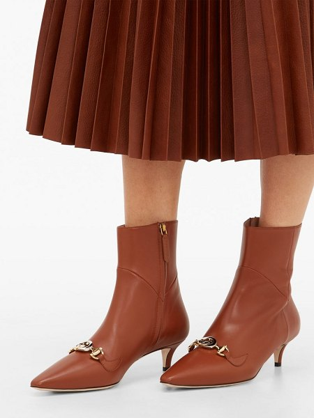 Gucci zumi leather ankle boots in tan