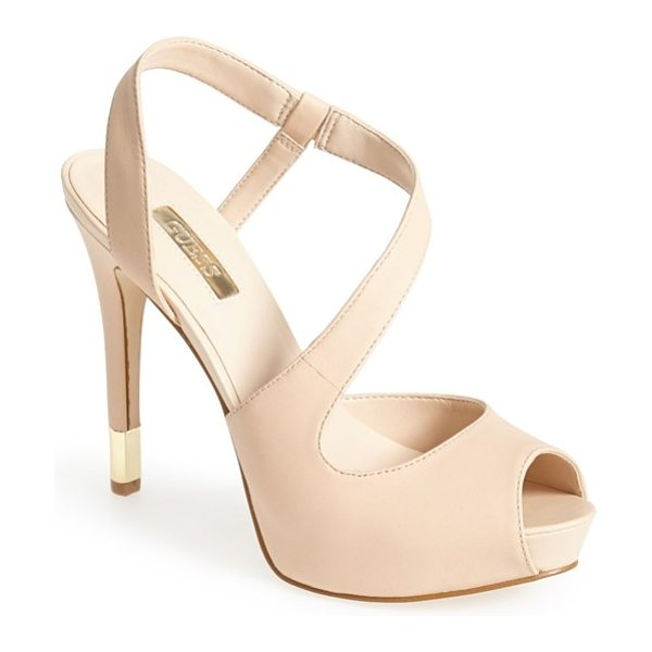 GUESS hilarie peep toe sandal - Add leg-lengthening style to your look with this...