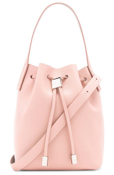 GVYN Yuri 2.0 Bucket Bag - Leather exterior with fabric lining. Drawstring top...