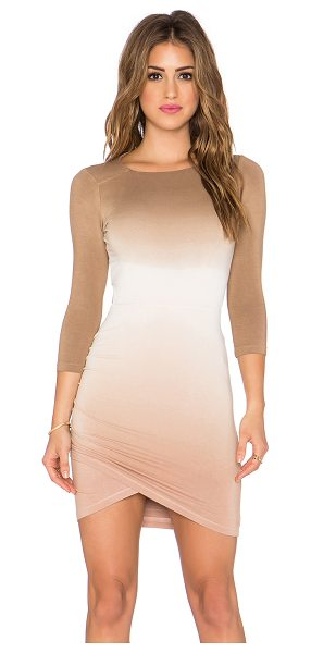 Gypsy 05 3/4 sleeve open back dress in tank - Rayon blend. Unlined. Ruched sides. Back cut-out....