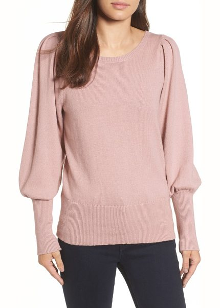 Halogen halogen bateau neck blouson sleeve sweater in pink adobe - This cashmere-kissed pullover boasts a Victorian vibe...