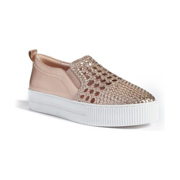 Halogen halogen baylee slip-on sneaker in metallic - A woven upper adds interest and breatheability to a...