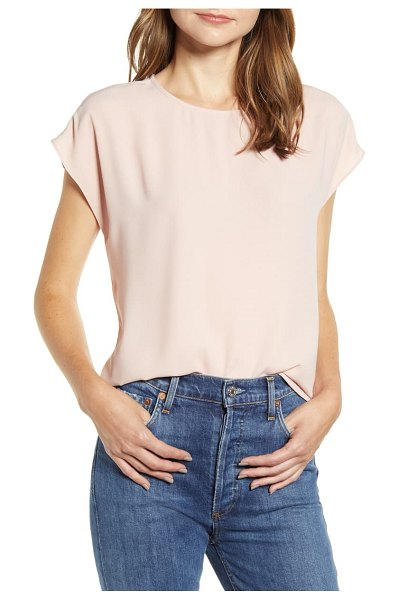 Halogen halogen cap sleeve blouse in pink