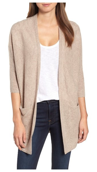 Halogen halogen cashmere cardigan in beige - Envelop yourself in the lush softness of cashmere with...
