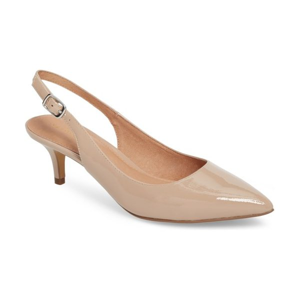 Halogen halogen elyse slingback pump in nude patent - A poised kitten heel lends just-right height to a...