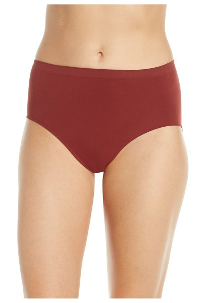 Halogen halogen high waist seamless briefs in brown