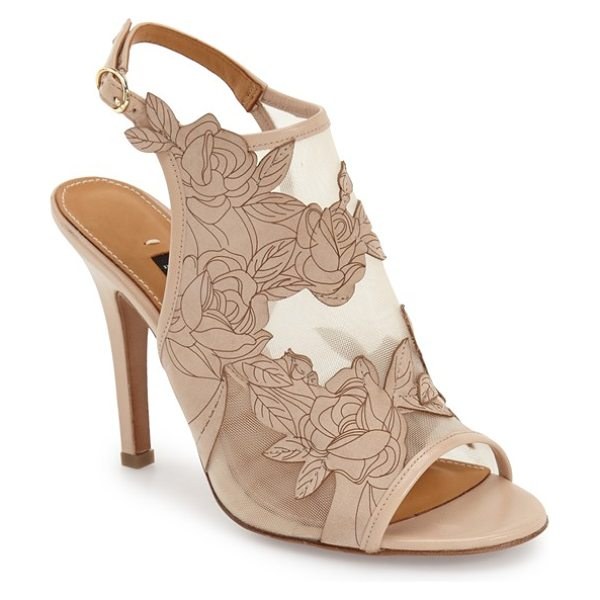Halogen viv platform sandal in natural snake printed leather - A stunning print adds a modern touch to the straps of a...