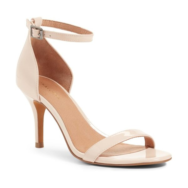 Halogen halogen audrey ankle strap sandal in nude patent - A svelte strap bridges the toe and wraps around the...