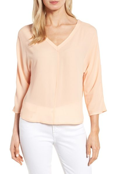 Halogen halogen back tie blouse in coral sunset - Add a bit of ethereal beauty to your closet with a...