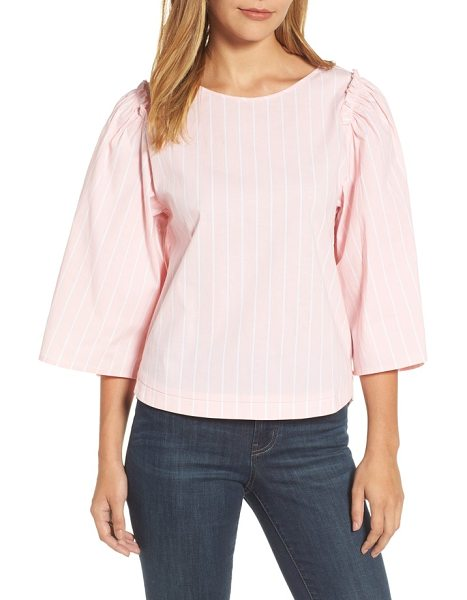 HALOGEN halogen bell sleeve stripe blouse - Crisp shirting stripes take a fresh and feminine form on...