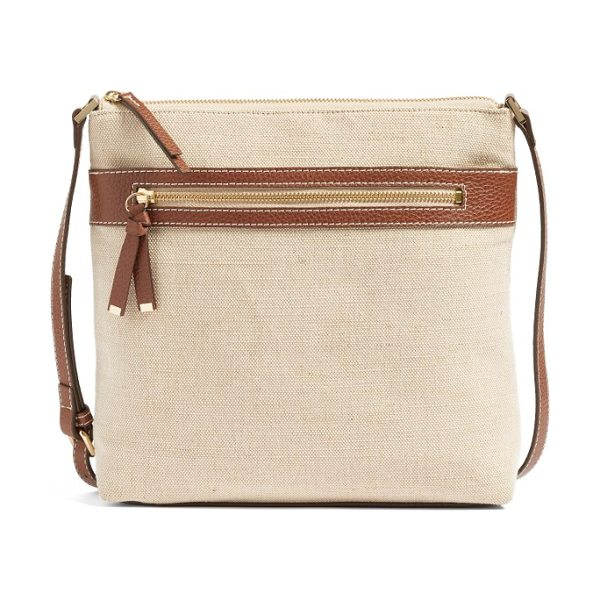 HALOGEN halogen canvas crossbody bag - Stay casual yet refined with a woven crossbody bag...