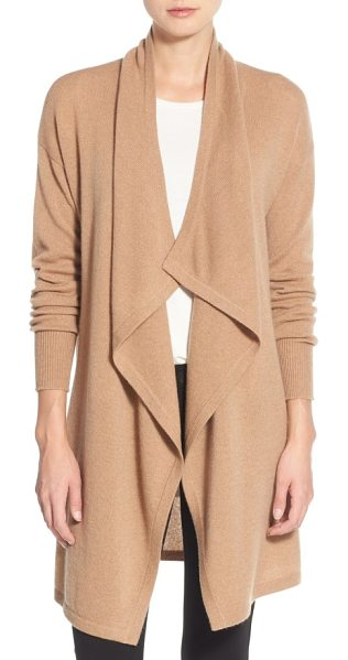 HALOGEN halogen cashmere long drape front cardigan - Wrap yourself in lush softness with a long cashmere...