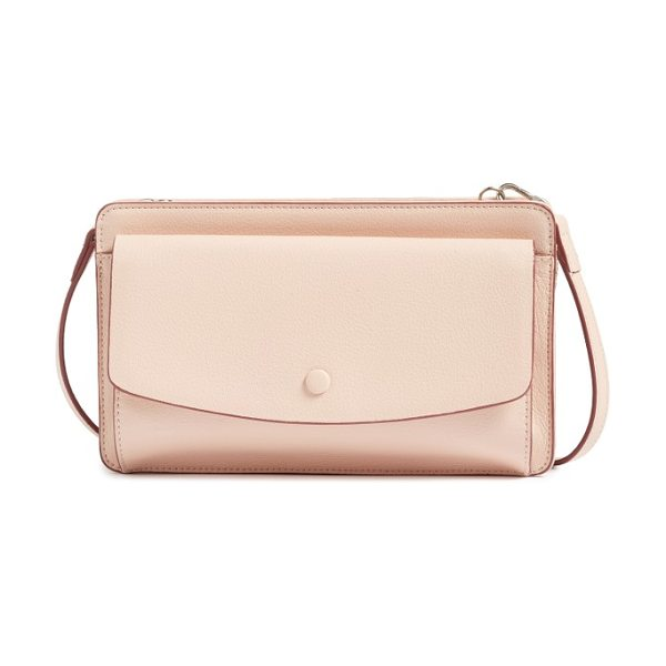 Halogen halogen convertible leather crossbody bag in pink dust - Whether you're headed uptown or downtown, stay...