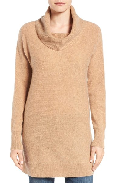 HALOGEN petite  halogen cowl neck cashmere tunic - A lightweight cashmere knit brings a lusciously soft and...