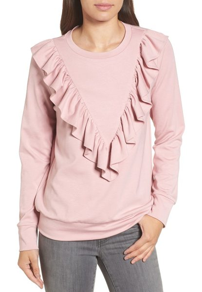HALOGEN halogen ruffle ponte sweater - Gorgeous ruffles flutter from the shoulders of this...