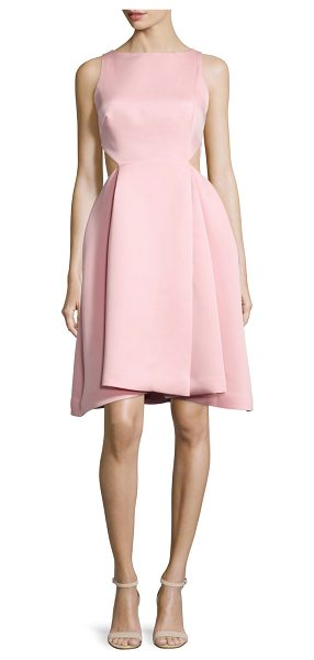 Halston Ali Sleeveless Side-Cutout Dress in parfait pink