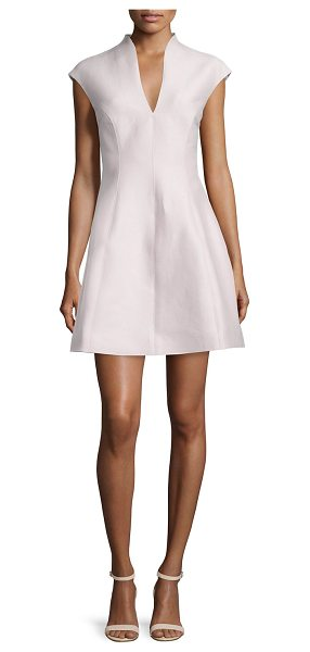HALSTON Cap-Sleeve A-line Dress - Halston structured dress with princess seams. Approx....