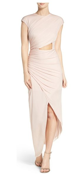HALSTON draped jersey dress - Asymmetrical draping and a subtle front cutout add bold,...