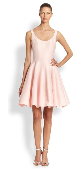 Halston faille tulip dress in lotus - A feminine flared design in lustrous silk faille,...