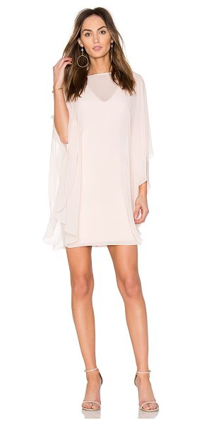 HALSTON Fitted Ponte Dress With Sheer Overlay in primrose - Self:100% polyContrast: 60% rayon 34% nylon 6%...