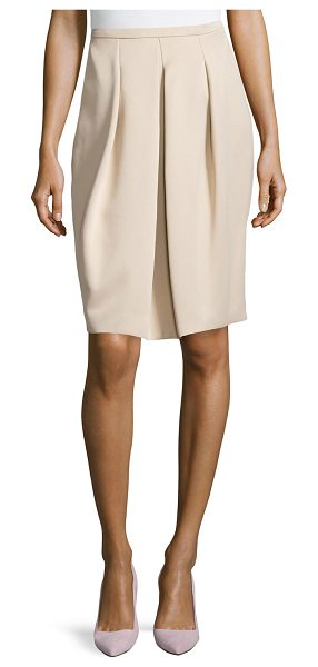 "Halston Front pleated full skirt in champagne - Halston Heritage crepe skirt. Approx. 24""L front and..."