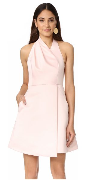 HALSTON halter neck draped dress - This Halston Heritage mini dress is crafted with slant...