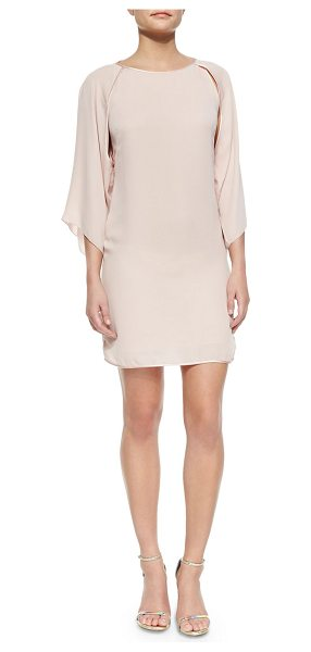 Halston Kimono-sleeve shift dress in sorbet - Halston Heritage micro twill georgette dress. Approx....