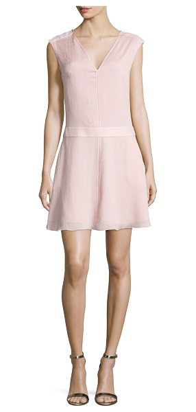 Halston Sleeveless Draped-Back Dress in sorbet - Halston Heritage hammered-woven dress. Approx. length:...
