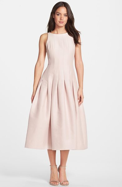 HALSTON sleeveless structured midi dress - A sleeveless cocktail dress fashioned from a faille...