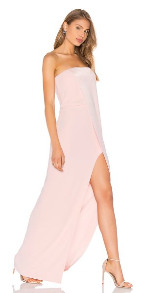 "Halston Strapless Gown in pink - ""Shell: 75% triacetate 25% polyLining 1: 100% polyLining..."