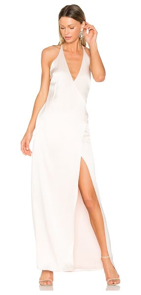 Halston V Neck Slip Gown in rose - Self: 75% triacetate 25% polyLining: 100% poly. Dry...