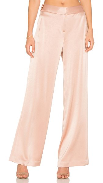 Halston Wide Leg Pant in beige - Self: 75% triacetate 25% polyLining: 100% poly. Dry...
