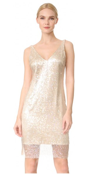 HANEY laura dress in desert opal - Iridescent sequins create a rainbow shimmer effect on...