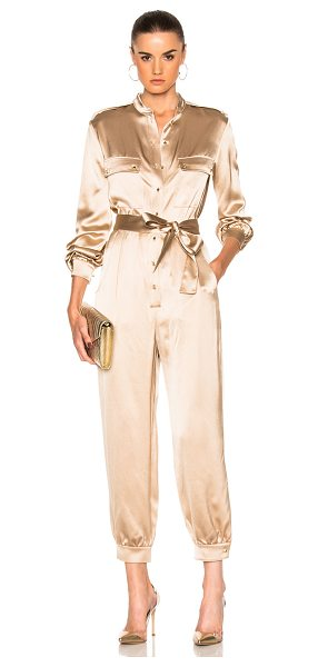 HANEY Taryn Jumpsuit - 100% silk.  Made in China.  Dry clean only.  Button...