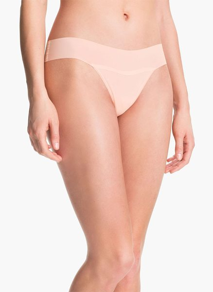 Hanky Panky 'bare in vanilla - A sleek thong cut from a unique second-skin jersey is...